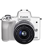 Canon EOS M50 EF-M15-45mm Kit 4K Mirrorless Camera, White
