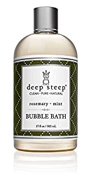 Deep Steep Rosemary Mint Sensitive Skin Shower Bubble Bath - 17 Fluid Ounces (Pack of 2)
