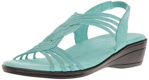 Easy Street Women's Natara Flat Sandal - Turquoise - 6 2A...