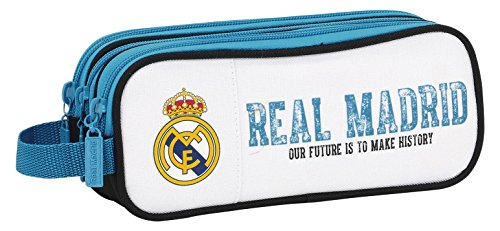 Real Madrid- Estuche portatodo Triple, Color (diseño), 21 x 7 x 8.5 cm (SAFTA 811754635)