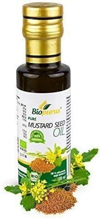 Certificado Orgánico Prensado en Frío Mostaza Aceite de Semillas 100ml Biopurus