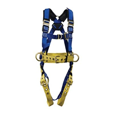Elk River 75422 TowerMaster Polyester/Nylon LE 4 D Ring Harness with Tongue Buckles, Medium
