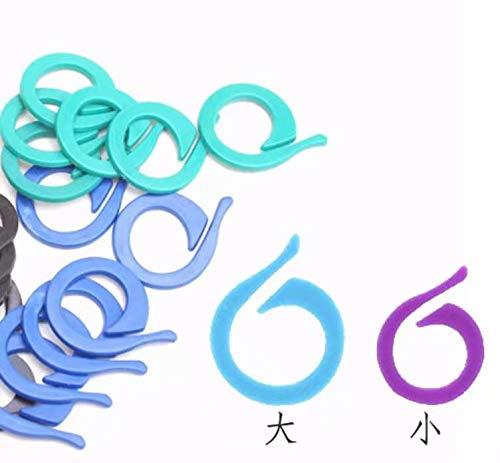 cierre de ganchillo herramientas para hacer punto Multicolores Miryo-100pcs marcadores de la puntada de pl/ástico para hacer punto del ganchillo de bloqueo
