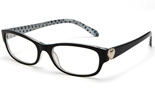 Newbee Fashion® - Womens Slim Fit Heart Design Fashion Clear Lens - Heart Gucci Of By Gucci Glass