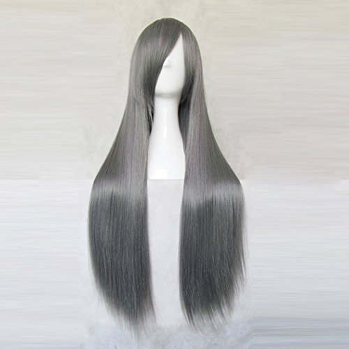Price comparison product image Final Fantasy VII Sephiroth Deep Grey 80CM Long Cosplay Costume Party Wig + Free Wig Cap
