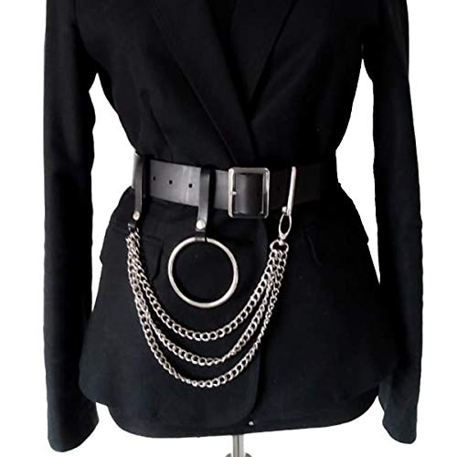 Homelex Women's Punk Leather Metal Chain Tassel Belt Adjustable Garter Harness (WM005)