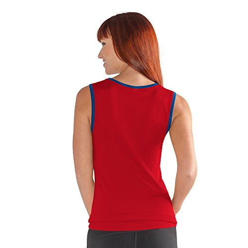 G-III Sports NBA New Jersey Nets Womens Power Up Red Small Tank Top