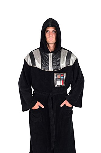 Star Wars Bathrobe (Star Wars Darth Vader Uniform Fleece Bathrobe, Black, One)