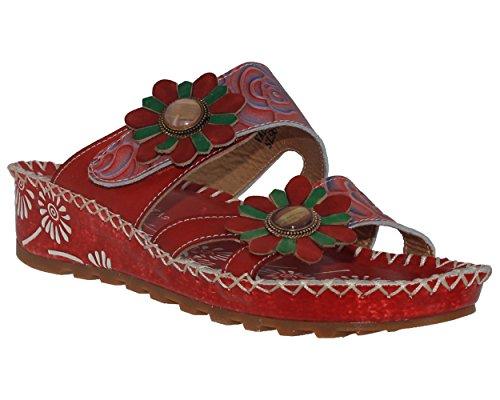 Laura Vita - Zuecos de Piel para mujer Rojo rojo