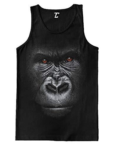- Big Gorilla Face - Animal Monkey Wildlife Men's Tank Top (Black, X-Large)