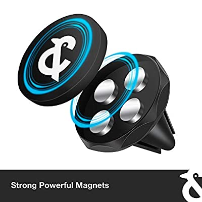 KL&S Magnetic Car Cell Phone Holder/Mount (Air Vent), Suitable for All Smartphones Including iPhone Xs Max XR X 8 7 Plus 6S 6 SE, Galaxy S9 S8 S7 Edge, LG G6, Note 9 8 5 and Mini Tablet