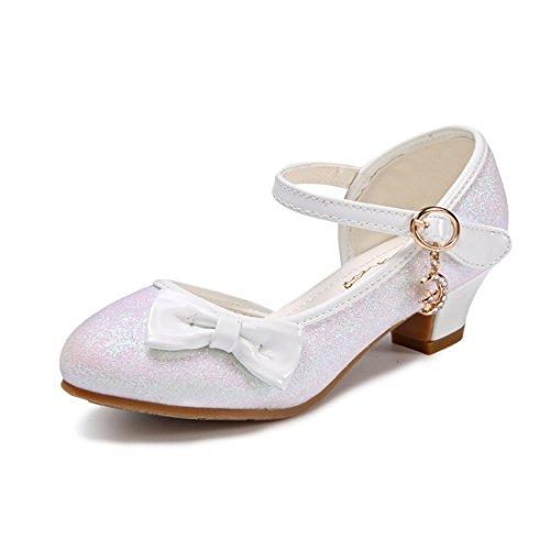 HBOS Kinder Maedchen Prinzessin Schuhe Ballerina mit Schmetterling Weiss 3