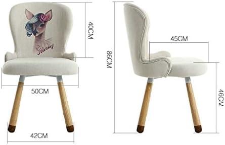 Chaise de salle à manger SLL- Chaise d'ordinateur en bois massif moderne (couleur : A)