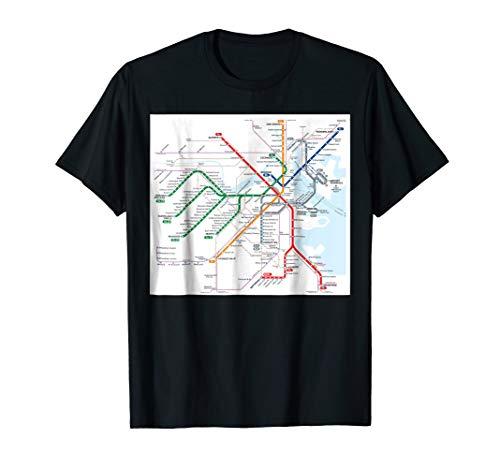 Boston subway map - United States - T-shirt