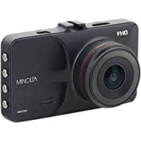 Minolta MNCD53-BK Full HD 1080p Wide Angle Car Dashboard Camera with G-Sensor, WDR, Loop Recording & 3 LCD, Black