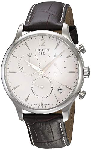 (Tissot Men's T063.617.16.037.00 Stainless Steel Tradition Watch with Textured Leather Band)