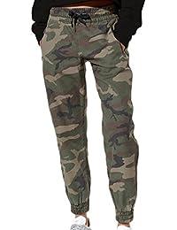 Naliha Womens Cargo Pants Camou Sports Regular Bloomers Casual Long Trousers