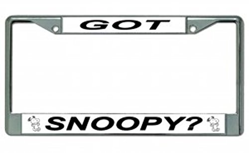 Got Snoopy Chrome License Plate Frame (Snoopy License Plate Frame compare prices)
