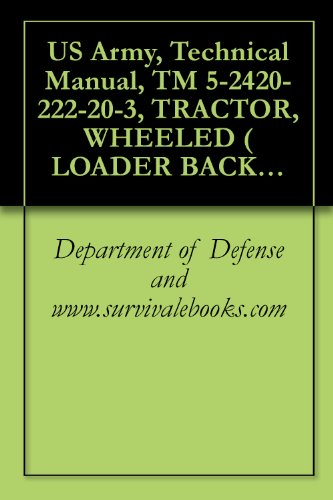 US Army, Technical Manual, TM 5-2420-222-20-3, TRACTOR, WHEELED ( LOADER BACKHOE W/HYDRAULIC IMPACT TOOL AND W/HYDRAULIC EARTH AU ATTACHMENT JOHN DEERE ... IMPACTOR EARTH DRILL (NSN -