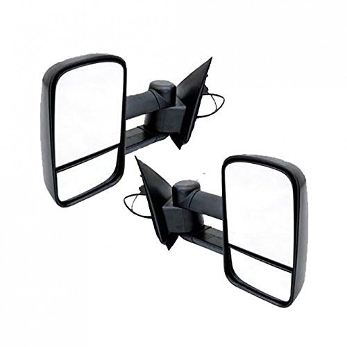 FUYU Manual Adjusted Towing Mirror Pair Set For 97-03 Ford F-150/F-250 & 04 Ford F-150 Heritage old body Standard/Extended - Body Heritage Old