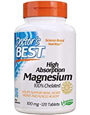 Doctor's Best - High Absorption 100% Chelated Magnesium 120 Tablets