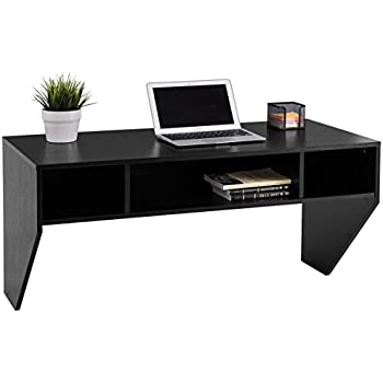 Amazon Com Wall Mounted Designer Floating Desk In White
