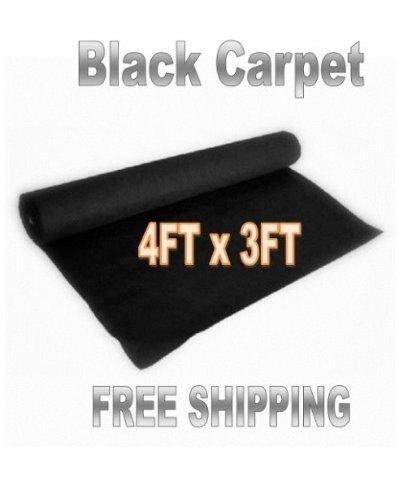 3ft x 4ft BLACK DJ CAR SUB SPEAKER BOX CARPET TRUNK LINER, Model: , Electro Shop