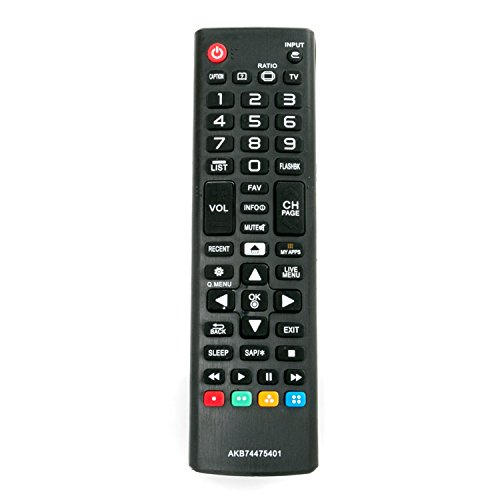 AKB74475401 Replace Remote fit for LG TV 55UF6430 49UF6490 55UF6450 65UF6450 49UF6400 43UF6430 55UF6790 49UF6430 65UF6790 43UF6800 49UF6800 55UF6800 65UF6800 43UF6900 49UF6900 60UF7300 70UF7300