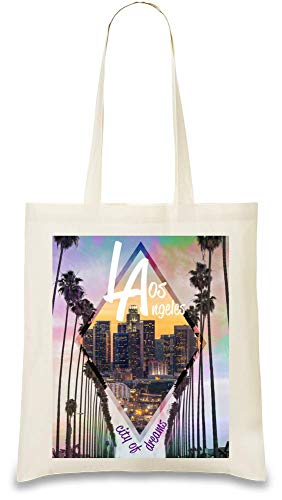 Bag Custom City Cotton Los Apparel Josh For Angeles Shoulder Unique Handbag Naturel Eco Tote 100 Printed Stylish Natural Color Every 3 Bags amp; God friendly Re Use Day Soft By usable wPXIqXWr8