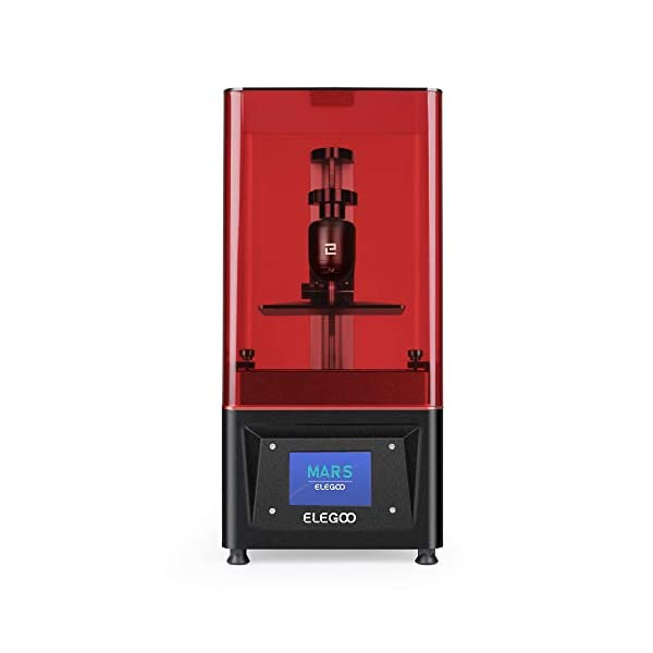 """ELEGOO Mars UV Photocuring LCD 3D Printer with 3.5"""" Smart Touch Color Screen Off-line Print 4.72″(L) x 2.68″(W) x 6.1″(H) Printing Size"""