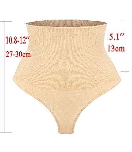 Underwear Sculptante String Plat Culotte Slim Ventre Gainante Beige Femmes Ningmi Thongs Amincissante Minceur 46EWq84Z
