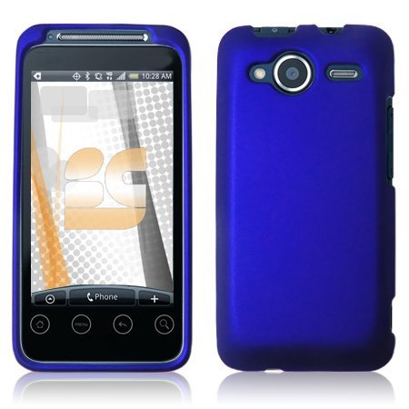 HTC EVO Shift 4G Rubberized Shield Hard Case - Blue [Wireless Phone Accessory]