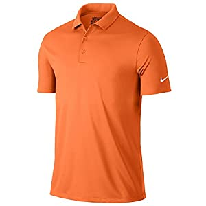 Nike Victory Solid Golf Polo 2017 Bright Mandarin/White Large
