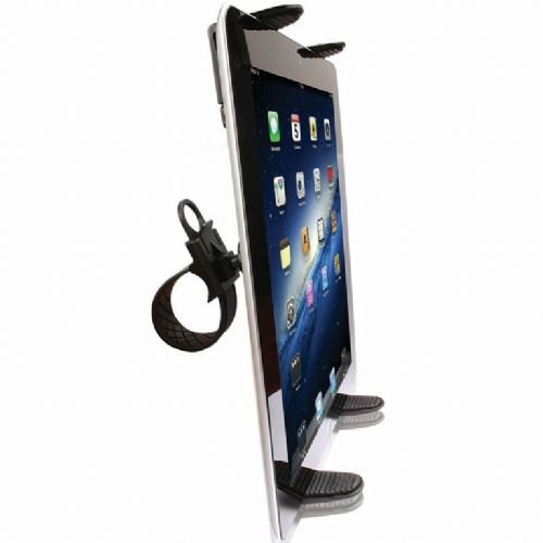 Robust Bike Mount, Treadmill Mount, Exercise Bike Cradle Mount Holder for ASUS Transformer Book / Flip Laptop w/ Anti-Vibration ZipGrip Mechanism (use with or without case)