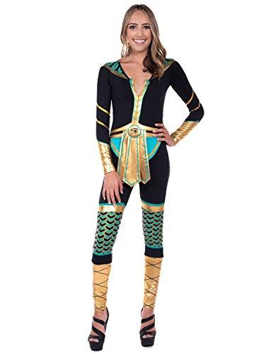 Tipsy Elves Women's Cleopatra Halloween Costume Body Suit: Medium -