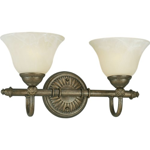 Progress Lighting P3205-86 2-Light Bath Bar, Burnished Chestnut