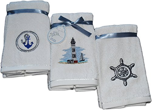 Decorative Luxury Fingertip Towel Set - 6 Piece