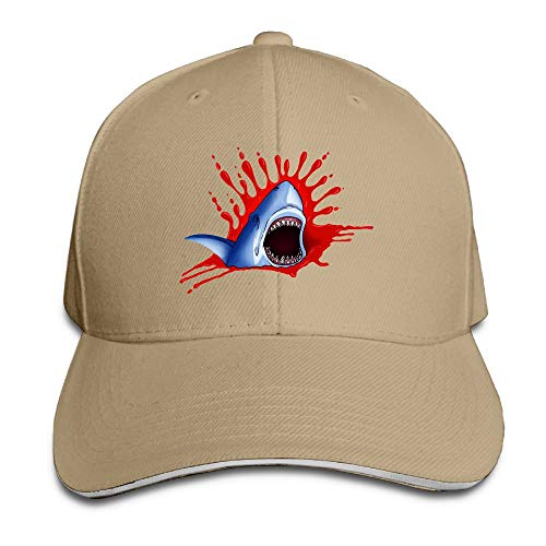 Adult Big Shark Mouth Cotton Lightweight Adjustable Peaked Baseball Cap Sandwich Hat Men Women
