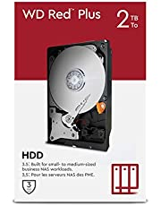 """WD Red Plus 2TB NAS 3,5"""" interne harde schijf - 5400RPM-klasse, SATA 6Gb/s, CMR, 64MB Cache"""
