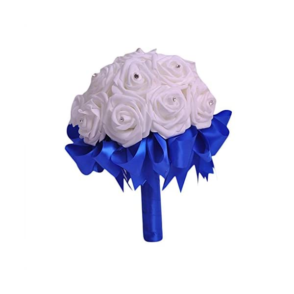 ZTTONE-Wedding-Bouquet-Crystal-Roses-Bridesmaid-Wedding-Bouquet-Bridal-Artificial-Silk-Flowers