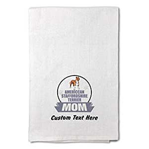 Custom Decor Flour Kitchen Towels Mom American Staffordshire Terrier Dog Pets Dogs Cleaning Supplies Dish Towels Design Only 20