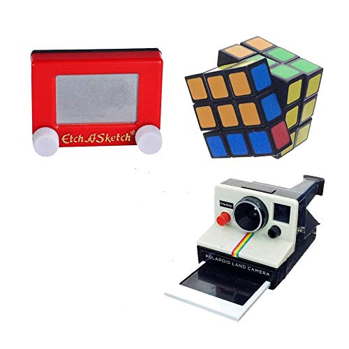 Worlds Smallest Bundle Rubiks Cube, Polaroid Camera, and Etch a Sketch