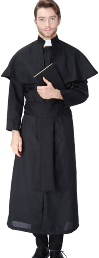 CHUAGNQI Disfraz de Halloween Jesucristo Juego de Roles Masculinos Servicio Pastor misionero María Cura