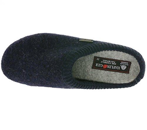 Haflinger Classic 481002 - Pantuflas de tela unisex Blau