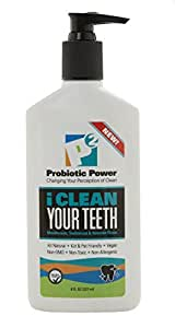 I Clean Your Teeth Mouthwash, Toothbrush & Retainer Rinse 8 oz.   Natural Probiotics Clean Away and Keep Away the Plaque (Biofilm) on Your Teeth