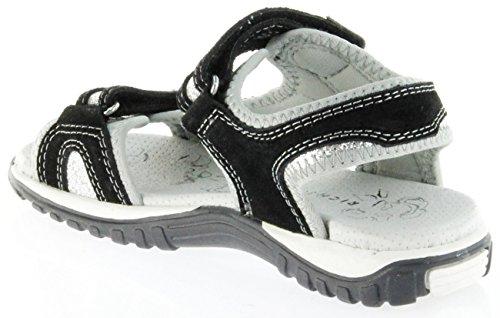 Richter Kinder Sandaletten Schwarz Velour Neopren Mädchen-Schuhe 5102-141-9901 Motion Schwarz
