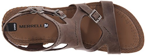 Merrell Womens Gefluister Gesp Gladiator Sandaal Taupe