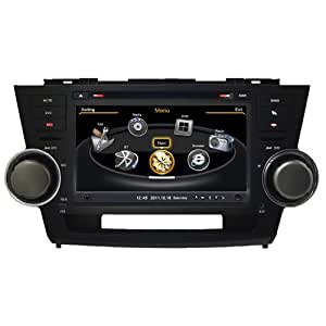 """Koolertron (TM) For Toyota Highlander Kluger In-Dash 7"""" Monitor GPS Navigation System AV Receiver Multimedia DVD Player with iPod PIP RDS MP3 MP4 VCD AM FM Virtual-CDC"""
