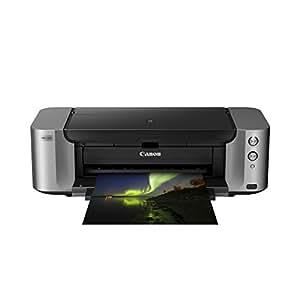 Canon PIXMA PRO-100S - Impresora fotografica de tinta (hasta 4.800 x 2.400 ppp, 8 tintas independientes, WiFi, USB), gris