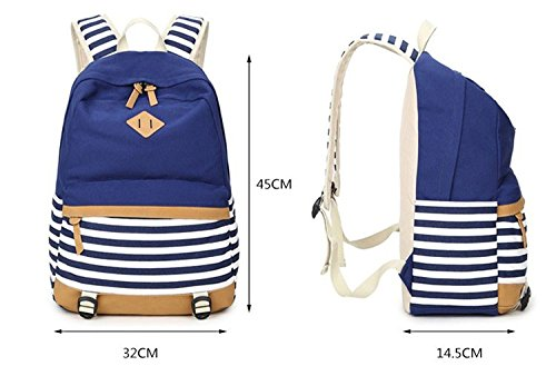 Book Bag 6 15 Fringe Backpack Women Blue Computer Daily Bags Black Sky Teenagers For Inch Striped College Winnerbag Student Bagpack Girls CqwX46v